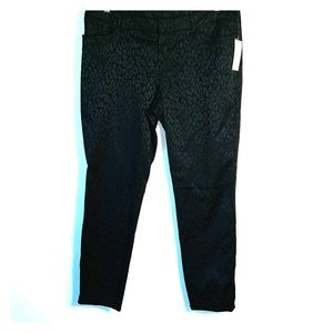 NWT Blk Leopard Textured Stretch Jean-style Pants